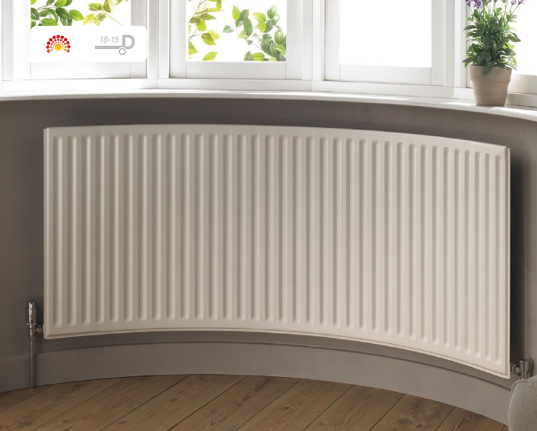 Rtc round top curved radiator curving ltd for Curved bay window